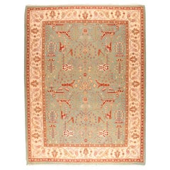 Fine Vintage Sumak Manchoria/Russian Rug, Flat-Weave Hand Knotted, circa 1970s