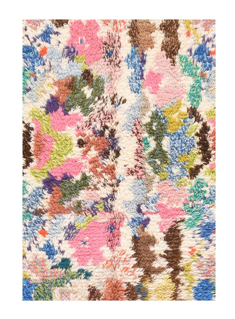 Fine vintage Swedish Shag rug/carpet, hand knotted, circa 1950s