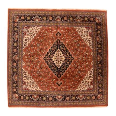 Fine Vintage Tabriz Design Indian Rug, Hand Knotted, circa 1970