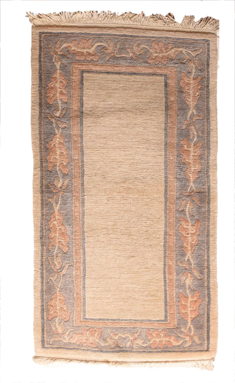 Fine Vintage Tibetan Rug, Hand Knotted, circa 1950s For Sale 1