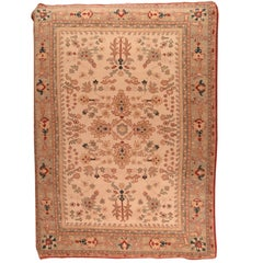 Fine Vintage Turkish Oushak, Wool On Wool, Hand Knotted