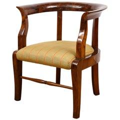 Fine Walnut Biedermeier Child's Chair