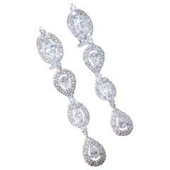 Fine White Diamond Modern Earrings