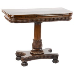 Fine William IV Rosewood Card Table, Attributed to Gillows