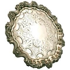 Fine William IV Sterling Silver Footed Salver, Hallmarked Sheffield, 1834