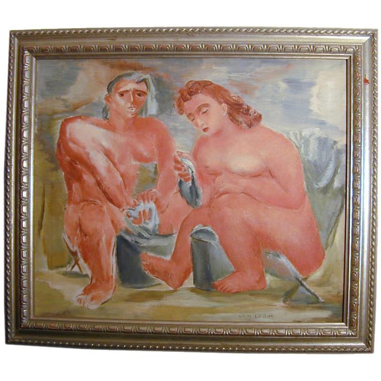 Fine, WPA-style Oil Painting, 1935, by Dorothy Van Loan