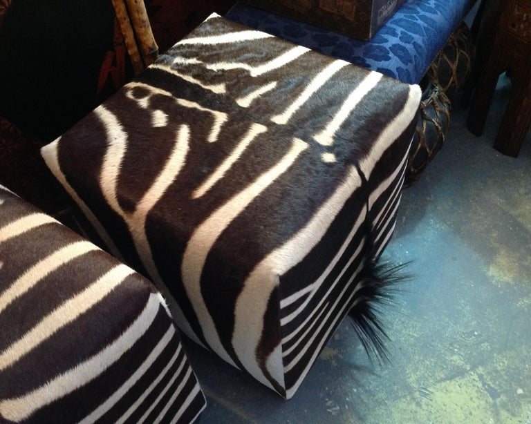 Fine Zebra Ottomans For Sale 5