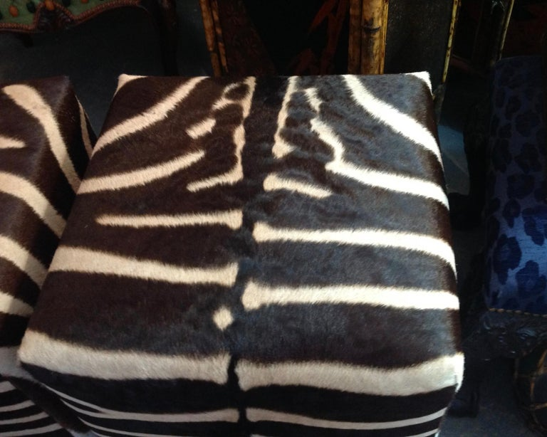 Fine Zebra Ottomans For Sale 7