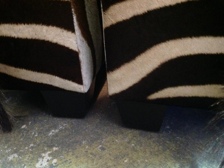 Fine Zebra Ottomans For Sale 10