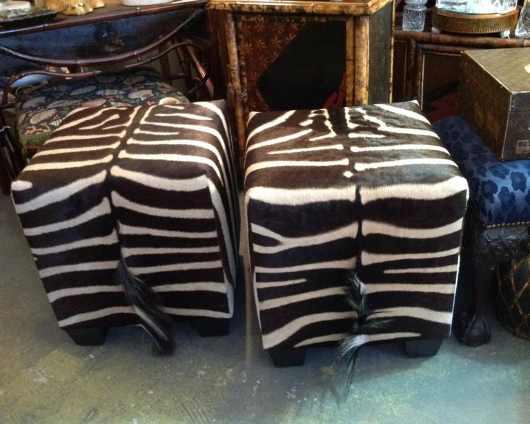 Fine Zebra Ottomans For Sale 3