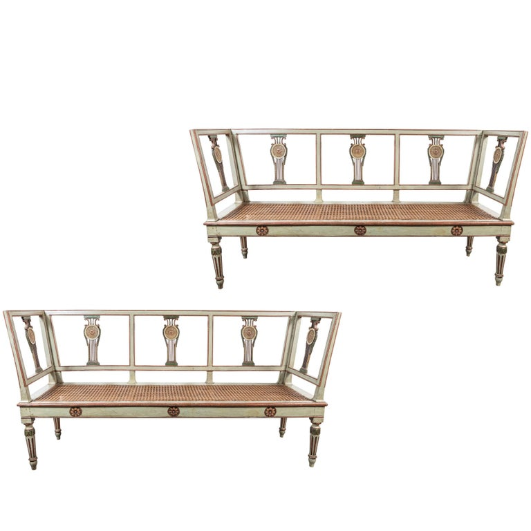 Fine, Mid-19th Century, Italian, Painted Benches