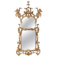 Finely Carved Giltwood Framed Hanging Wall Mirror