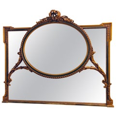 Finely Carved Hollywood Regency or Adams Style over the Mantle or Wall Mirror