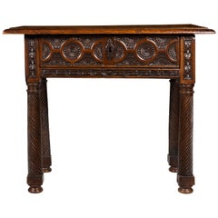 A Finely Carved Late 17th Early 18th Century Walnut Portuguese Side Table