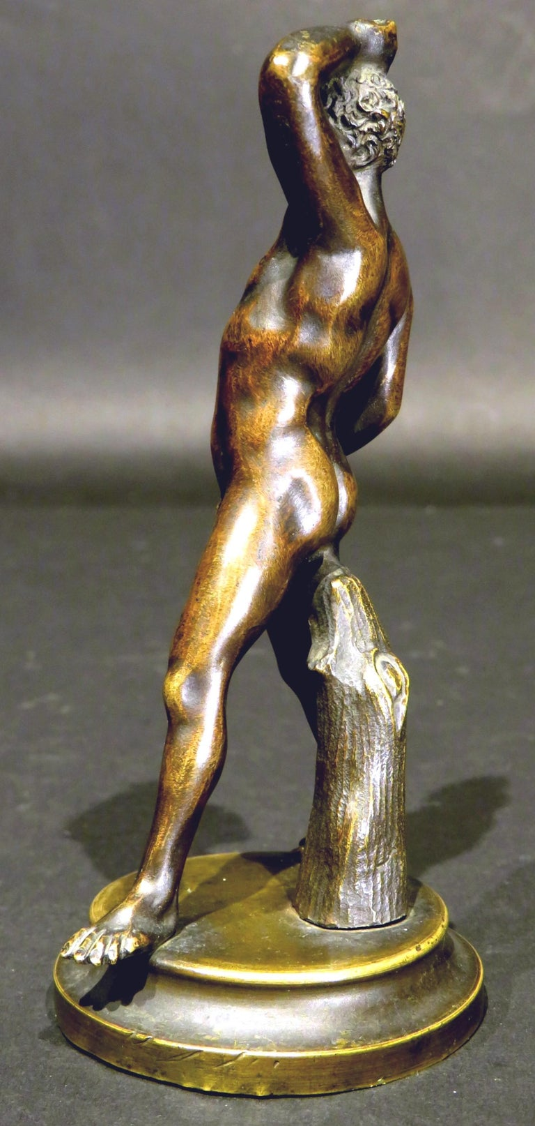 Finely Cast Pair of 19th Century Grand Tour Miniature Bronzes of The Pugilists  2
