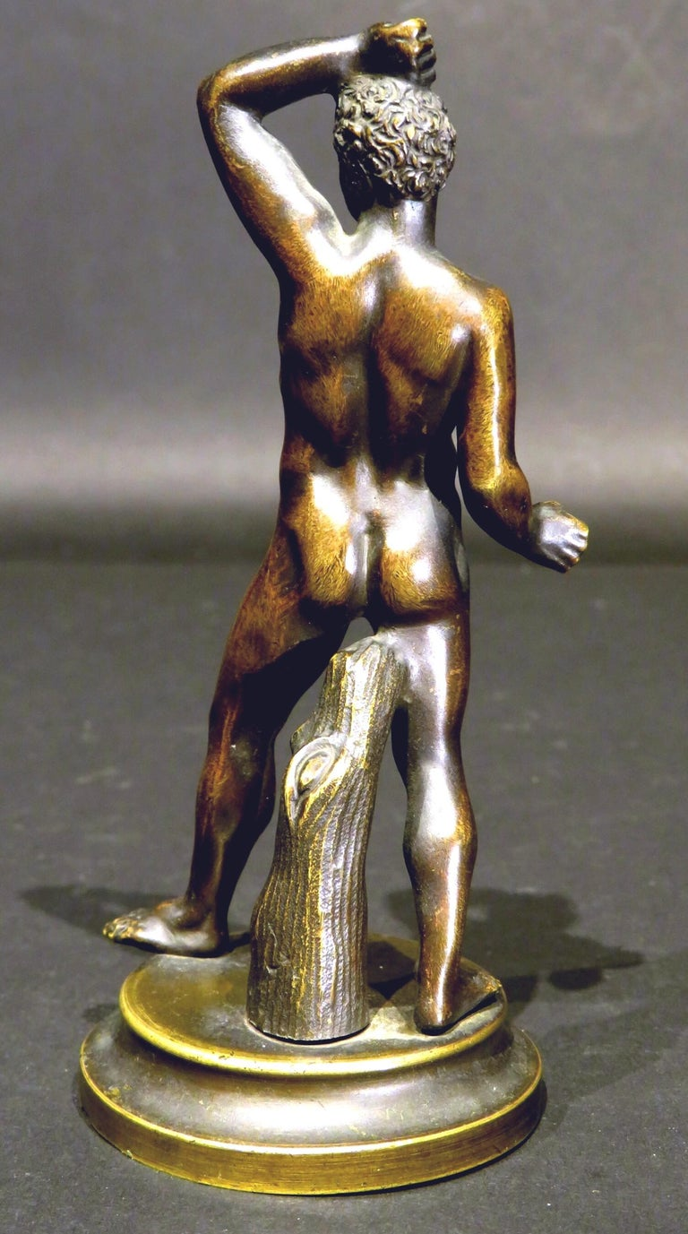 Finely Cast Pair of 19th Century Grand Tour Miniature Bronzes of The Pugilists  3