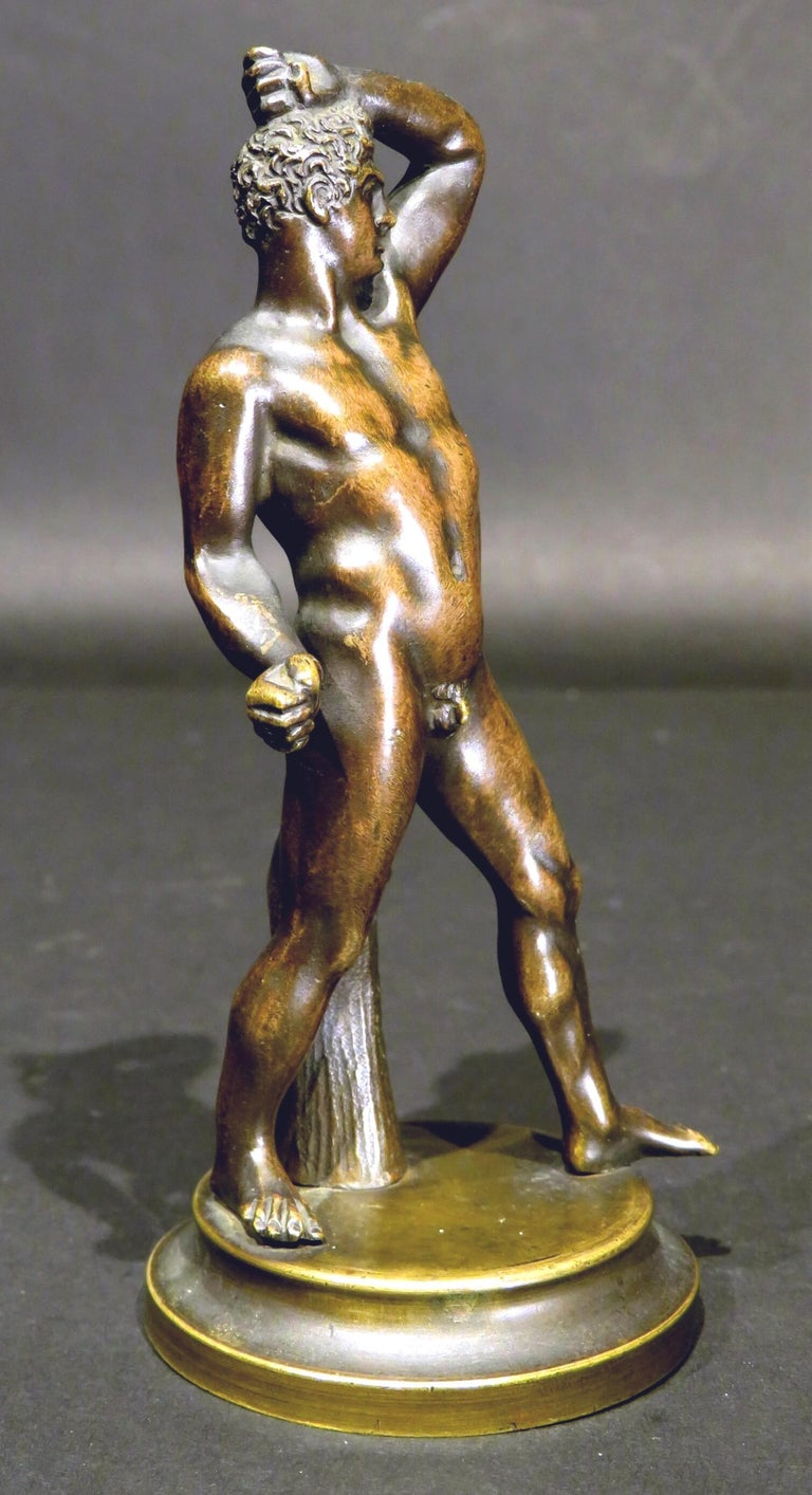 Finely Cast Pair of 19th Century Grand Tour Miniature Bronzes of The Pugilists  4