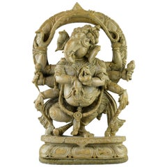 Finely Executed Ganesh Soapstone Sculpture, 19th Century