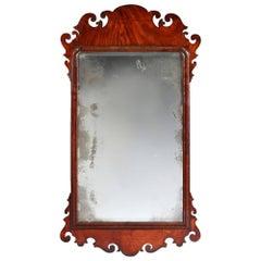 Finely Figured Georgian Mahogany Mirror