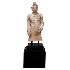 Finely Made Replica Chinese Terracotta Standard Bearer/ Warrior Figure