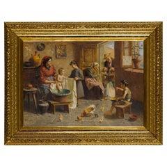 Finely Painting of a Happy Italian Family by Zamphigi