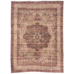Finely Woven Antique Persian Lavar Kerman Rug, circa 1900s