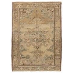 Finely Woven Antique Persian Malayer Rug, circa 1900  4' x 6'3