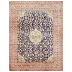 Finely Woven Large Oversized Antique Persian Kerman Rug