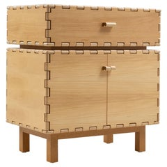 Finest Handcrafted Interlocking Wood Panels Cabinet with Display Box