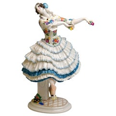 Finest Meissen Figurine Dancer Chiarina Russian Ballet by Paul Scheurich
