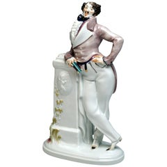 Finest Meissen Porcelain Figurine 'Dude' by Paul Scheurich, circa 1919