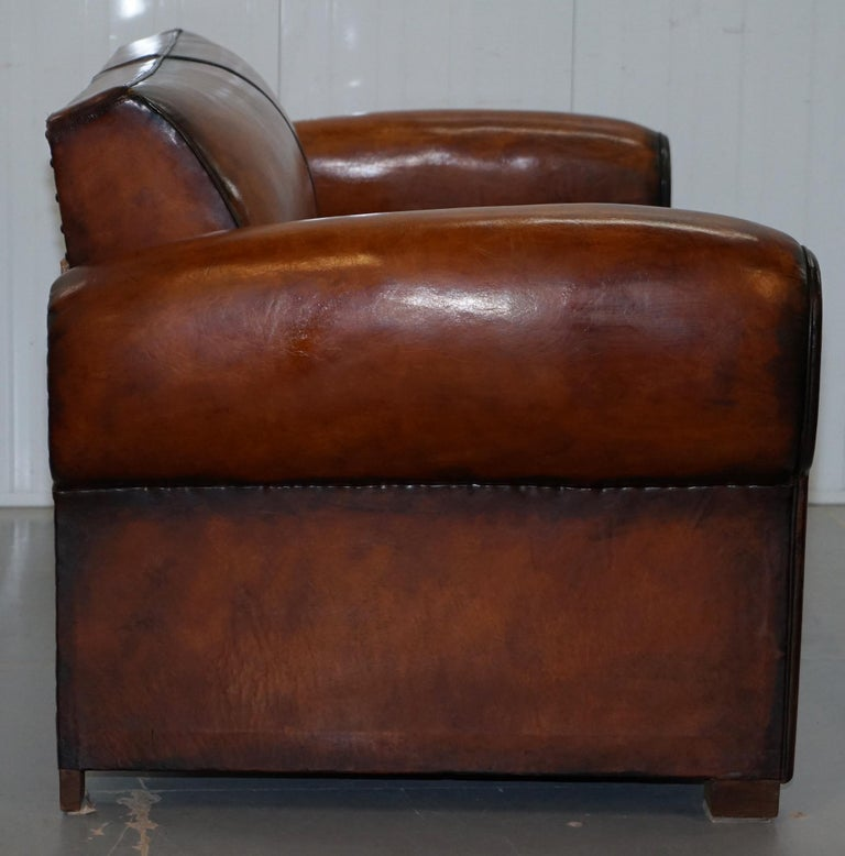 Finest Quality Art Deco Fully Restored Hand Dyed Brown