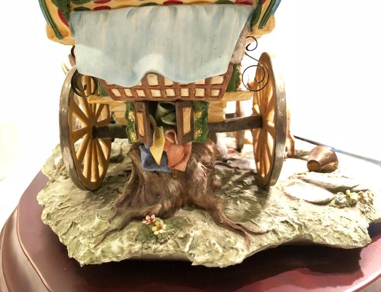 Finest Quality Capodimonte Gypsy Caravan Italian Porcelain Scene by Cortese For Sale 4
