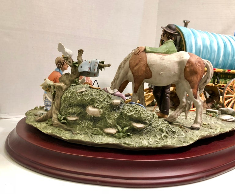 Finest Quality Capodimonte Gypsy Caravan Italian Porcelain Scene by Cortese For Sale 11