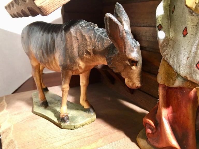 Finest Quality Italian Nativity Set Hand Carved Wood 16-Piece Oswald Demetz Deur For Sale 2
