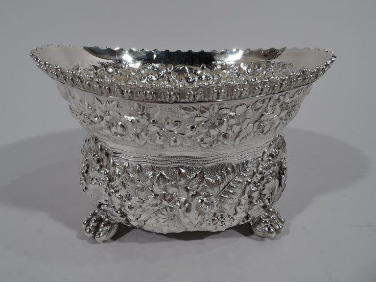 Finest Quality Tiffany Repousse Sterling Silver Coffee and Tea Set For Sale 5