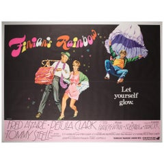 """Finian's Rainbow"" 1968 UK Quad Film Poster, Chantrell"