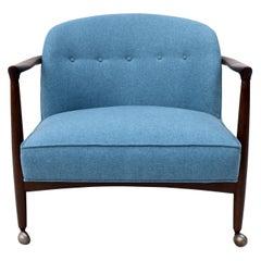 Finn Andersen for Selig Danish Sculpted Barrel Back Lounge Chair