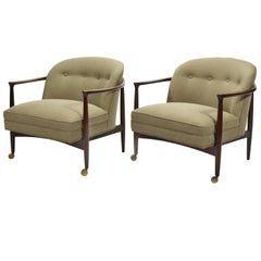 Finn Andersen Pair of Barrel-Back Lounge Chairs