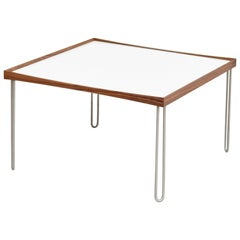 Finn Jhul Black and White Tray Table Walnut, 1965