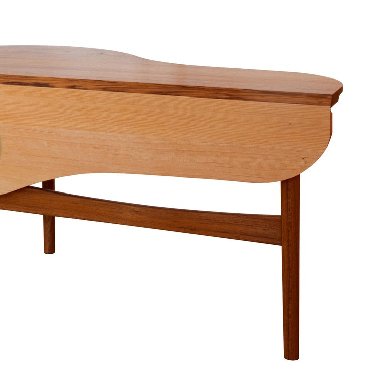 Modern Finn Juhl Butterfly Table Teak and Oregon Wood Brass, 1949 For Sale