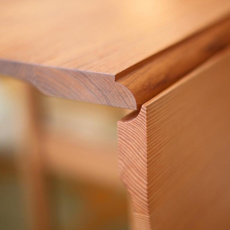 Contemporary Finn Juhl Butterfly Table Teak and Oregon Wood Brass For Sale