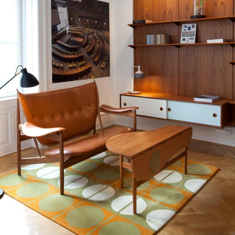 Finn Juhl Butterfly Table Teak and Oregon Wood Brass For Sale 1