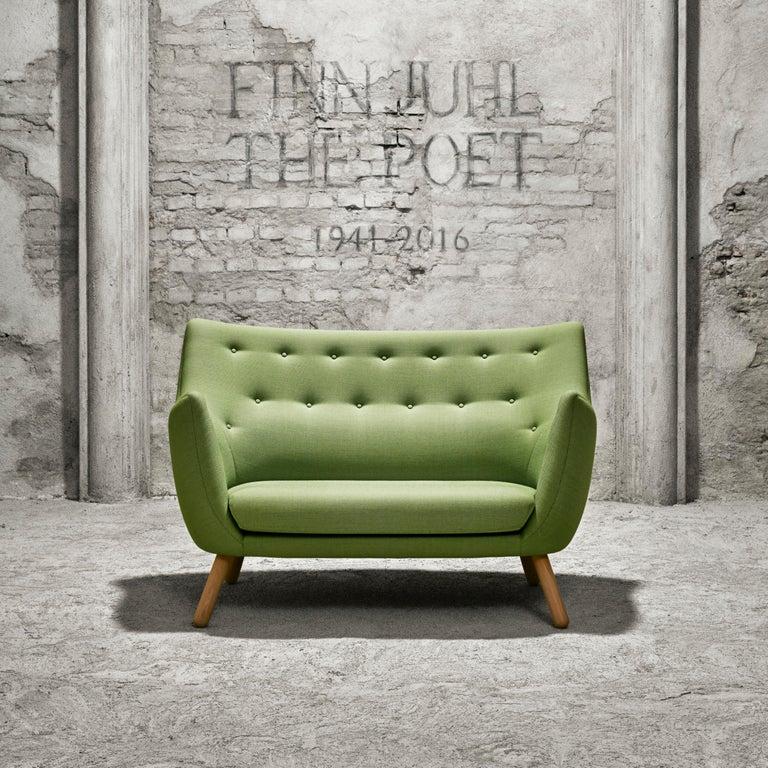Finn Jhul Poet Sofa Walnut, Green Kvadrat Rime, 1941 For Sale 1