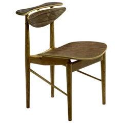 Finn Juhl Reading Chair Veneer Seat Walnut Oak