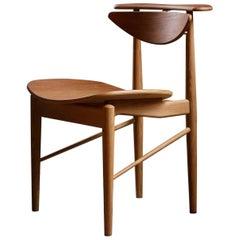 Finn Jhul Reading Chair Veneer Seat Walnut Teak, 1953