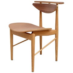 Finn Juhl Reading Chair Veneer Seat Walnut Teak