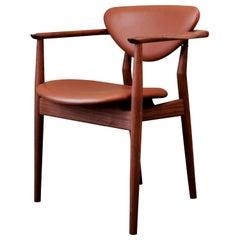Finn Juhl 109 Chair, Wood and Elegance Walnut Leather