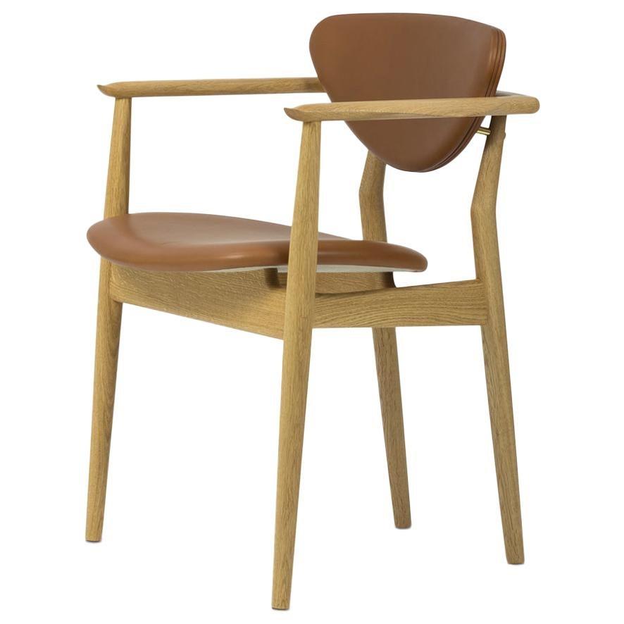 Finn Juhl 109 Chair, Wood and Leather by House of Finn Juhl