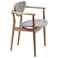 Finn Juhl 109 Chair, Wood and Paul Smith Fabric